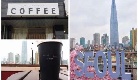 首爾主義咖啡室.屋頂酒吧看樂天世界塔.首爾自由行